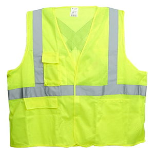 J. J. Keller™ SAFEGEAR™ Safety Vest Type R Class 2 - Hook & Loop Closure