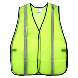 J. J. Keller™ SAFEGEAR™ Non-Certified Safety Vest - Hook & Loop Closure with 1' Silver Tape