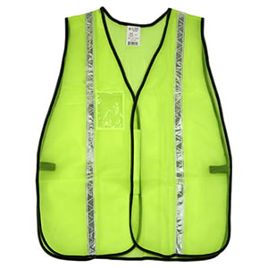 "J. J. Keller™ SAFEGEAR™ Non-Certified Safety Vest - Hook & Loop Closure with 1"" PVC Tape"