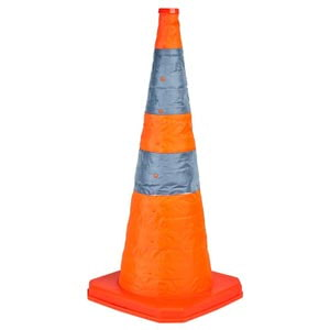 "Collapsible Traffic Cone with Internal LED - 28"" Tall"