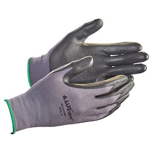 SAFEGEAR™ Flat Dip Nitrile Foam Smooth-Palm Nylon Knit Gloves