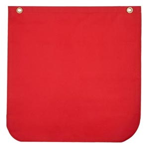 Warning Flag Red Solid Poly/Cotton Twill