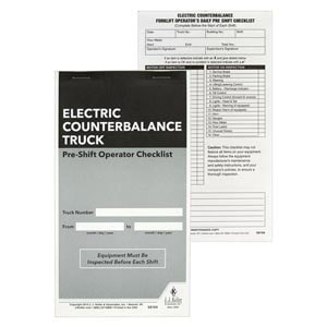 Electric Counterbalance Forklift Pre-Shift Inspection Checklist