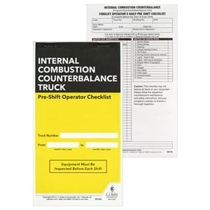 Internal Combustion Counterbalance Forklift Pre-Shift Inspection Checklist