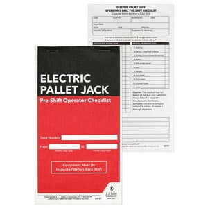 Electric Pallet Jack Pre-Shift Inspection Checklist
