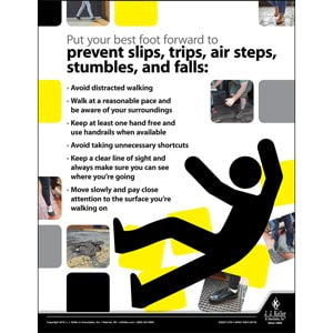 Walkway Safety for Employees - Awareness Poster
