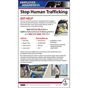 Human Trafficking Driver Awareness Poster