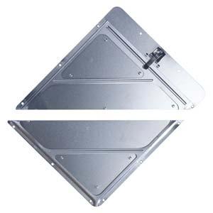 Rivetless Split Aluminum Placard Holder w/Back Plate
