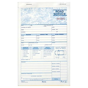 Road Service Dispatch Book, Carbonless – Stock