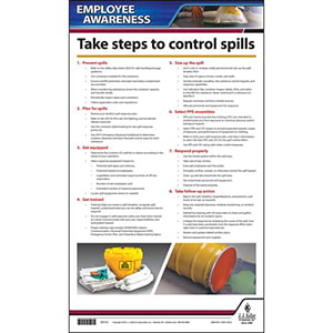 Workplace Spill Control - Employee Awareness Poster