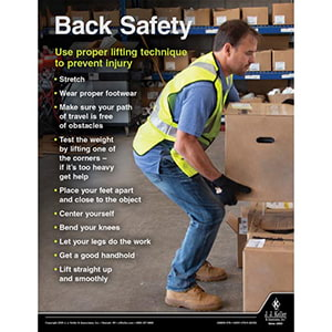 Back Safety - Driver Awareness Safety Poster