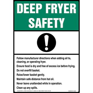 Deep Fryer Safety Poster - ANSI