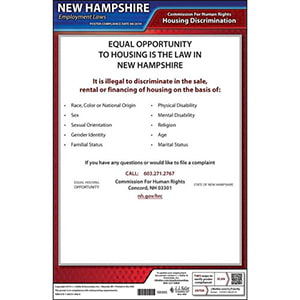New Hampshire Fair Housing Poster
