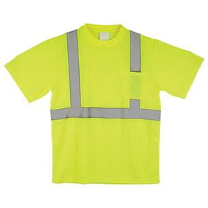 J. J. Keller™ SAFEGEAR™ Lime T-Shirt Type R Class 2