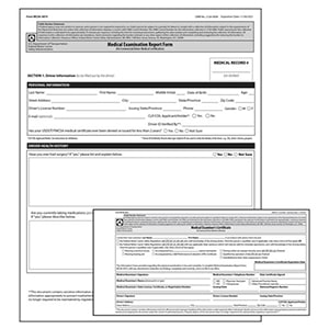 Medical Examination Certificate & Report Combo Pack