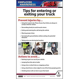 Safely Entering and Exiting Your Truck - Driver Awareness Poster