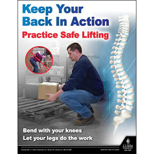 Practice Safe Lifting - Workplace Safety Training Poster