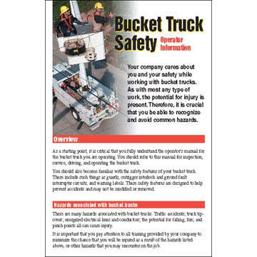 Bucket Truck Safety Training for Operators Kit - Skill Cards