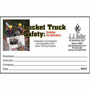 Bucket Truck Safety Training for Operators Kit - Wallet Cards