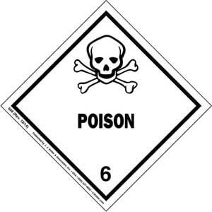 Hazardous Materials Labels - Class 6, Division 6.1 -- Poison - Paper, Roll