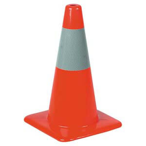 Traffic Cone w/ Reflective Collar - 18""