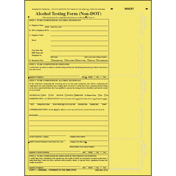 Alcohol Testing Form - Non-DOT Format