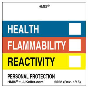 Original HMIS® Labels - Without Chronic Hazards Box
