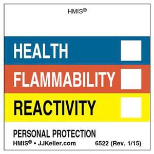 Original HMIS® Labels - Without Chronic Hazards Box