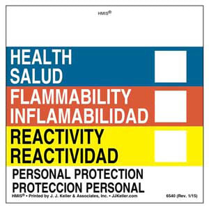 Bilingual Original HMIS® Labels - Without Chronic Hazards Box