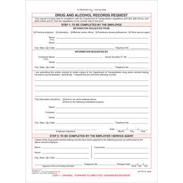 Drug and Alcohol Records Request