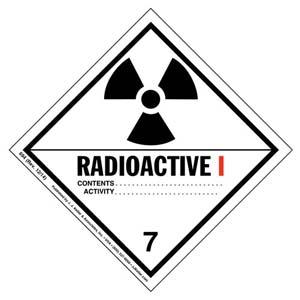 Hazardous Materials Labels - Class 7 -- Radioactive I - Paper