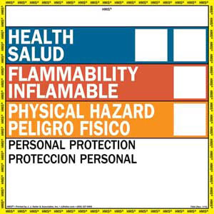 Bilingual HMIS® III Label - Vinyl