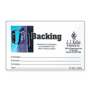 Backing Training Kit - Wallet Cards
