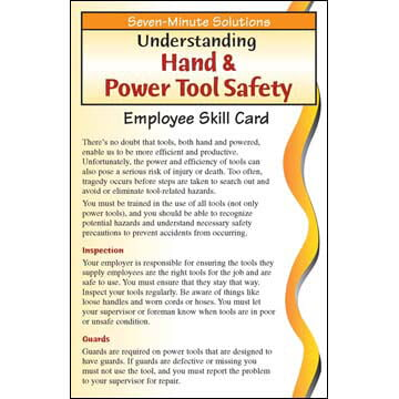 7-Minute Solutions for Construction - Employee Skill Card