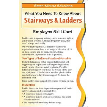 7-Minute Solutions for Construction: Stairways & Ladders - Skill Cards