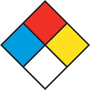 Hazard Communication Sign - Rigid Polystyrene w/Drill Holes