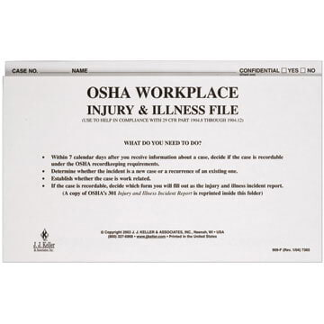 Workplace Injury & Illness File Folder