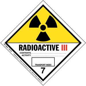 Hazardous Materials Labels - Class 7 -- Radioactive III - Paper, Roll
