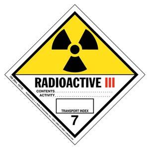 Class 7 Radioactive III Labels