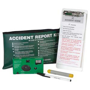 Accident Compliance Kit in Vinyl Pouch w/ 35mm Film Camera - Bilingual