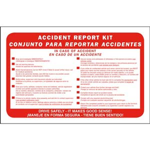 Bilingual Accident Report Kit