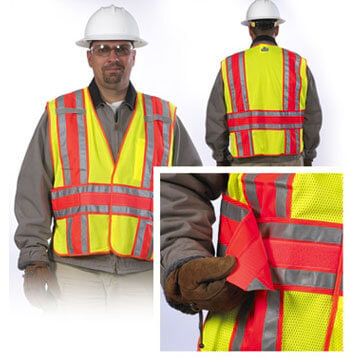 Safety Vest: Type R Class 2 Mesh Expandable Two-Tone