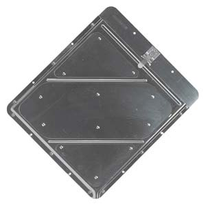 Riveted Aluminum Placard Holder w/Back Plate