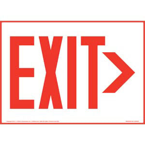 Directional Exit Right Sign - Red