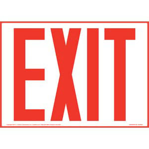 Exit Sign - Red Text