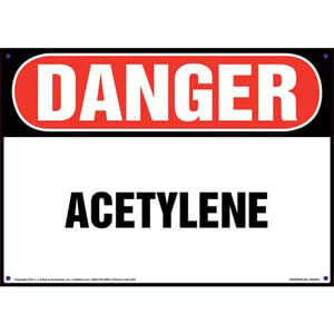Danger: Acetylene Sign - OSHA