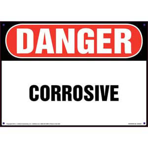 Danger: Corrosive Sign - OSHA