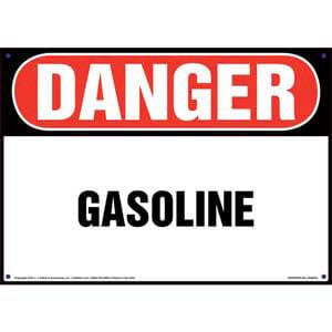 Danger: Gasoline Sign - OSHA