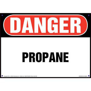 Danger: Propane Sign - OSHA