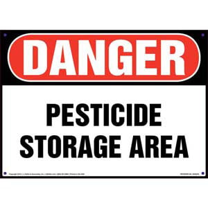 Danger: Pesticide Storage Area Sign - OSHA
